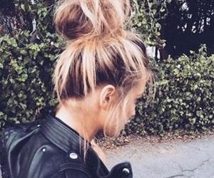 bun, fashion, and hairstyle image