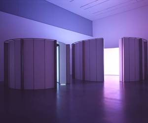 installation and purple image