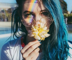 aesthetic, beautiful, and blue hair image