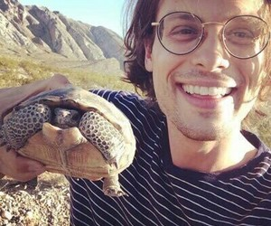 matthew gray gubler and turtle image