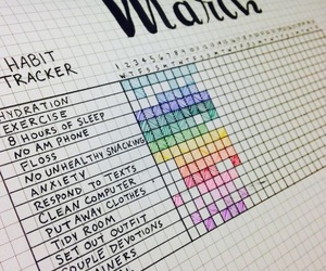 habits, month, and bullet journal image