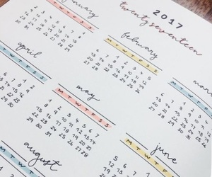 calendar, planner, and bujo image