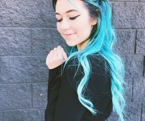 blue hair, girl, and jessie paege image