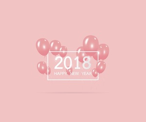 happy and 2018 image
