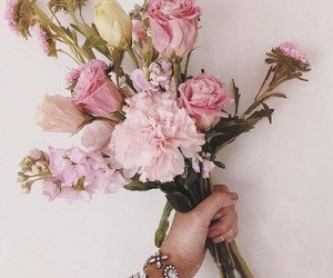 bouquet, floral, and rose image
