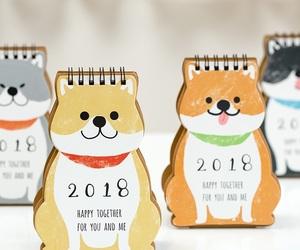 adorable, calendar, and dog image