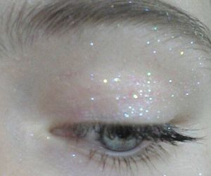 glitter, eye, and pale image