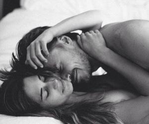 affection, bed, and hug image