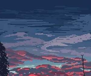 pixel, sunset, and wallpaper image