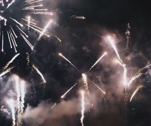 aesthetic, fireworks, and happy new year image