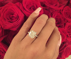 ring, nails, and rose image