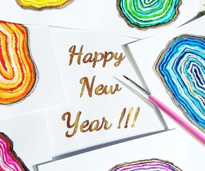 colorful, happy new year, and paint image
