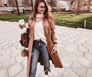 girl, brown, and fashion image