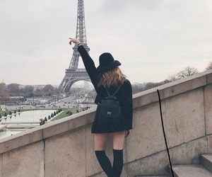 city, girl, and paris image
