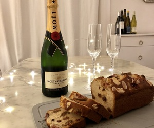 baked, champagne, and luxury image