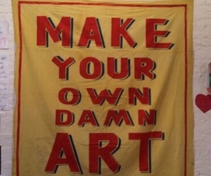 art, red, and yellow image