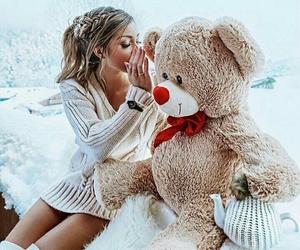 girl, secret, and bear image