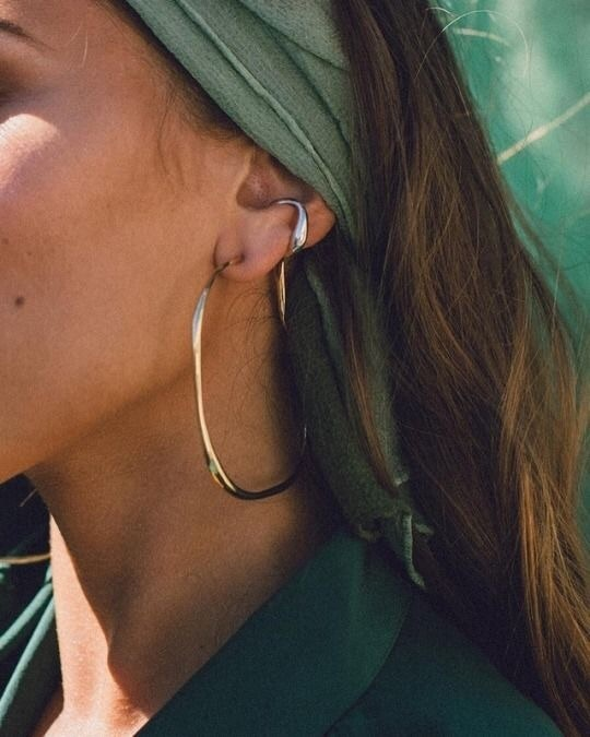 earrings, green, and accessories image