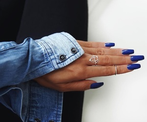 blue, chic, and ring image