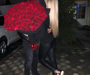 couple, love, and rose image