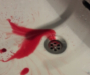 bleeding, blood, and crazy image
