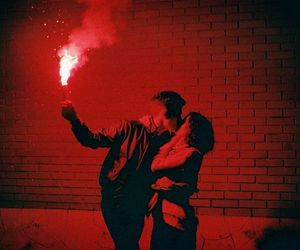 red, love, and couple image