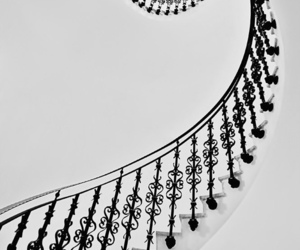 black, staircase, and stairs image