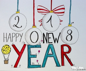 art, drawing, and happy new year image
