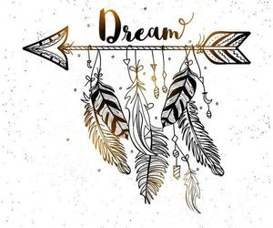 Dream, feather, and bohemian image