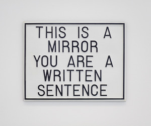mirror, quotes, and grunge image