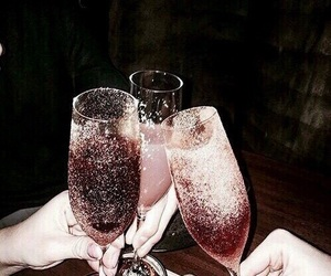champagne, happy new year, and bye 2017 image