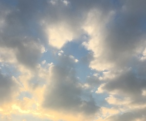 clouds, sunrise, and sky image