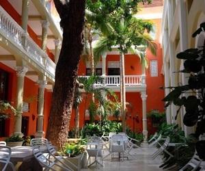 architecture, balcony, and orange image