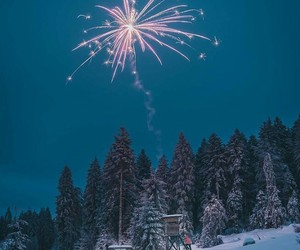 aesthetics, christmas, and fireworks image