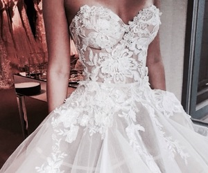 white wedding, girl fashion style, and bridal gowns image