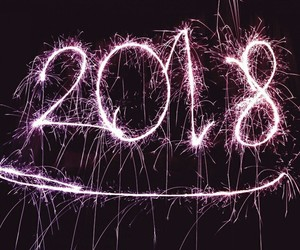 2018, new year, and fireworks image