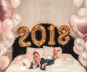 2018, balloons, and girl image