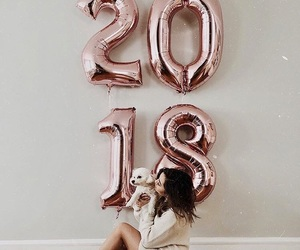 2018, rose gold, and animal image