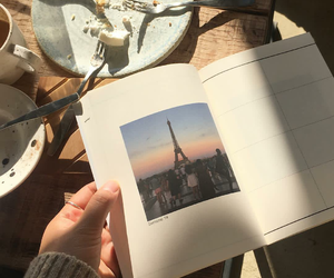 book, paris, and trip image