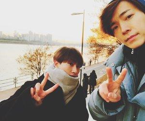 donghae, eunhyuk, and cute image