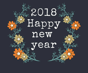 happy new year and 2018 image
