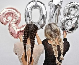 2018, hair, and friends image