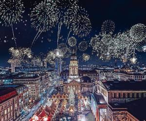 fireworks, germany, and city image