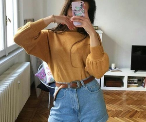 outfit, style, and yellow image