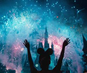 disney, fireworks, and photography image