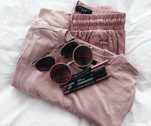 fashion, pink, and sunglasses image