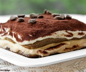 food, tiramisu, and chocolate image