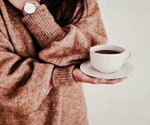 coffee, brown, and sweater image