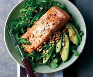 avocado, healthy, and meat image