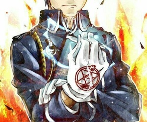 fullmetal alchemist, roy mustang, and mustang image